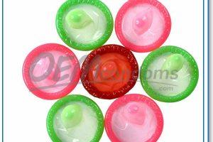 Colored condoms are more sensitive for you to explore