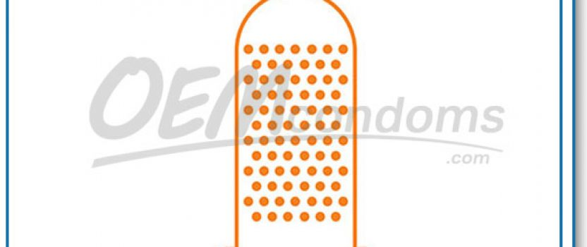 Dotted condom is used for enhanced pleasure.